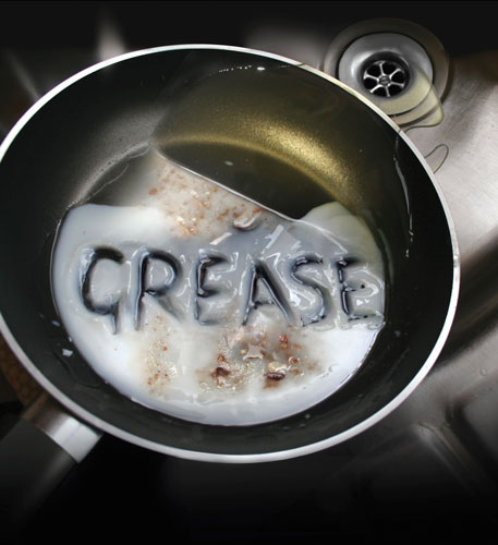 Grease in pan