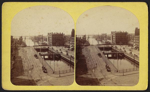 Narragansett Bay seen from Providence, R.I., 1850-1920.