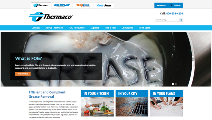 Image of New Thermaco Homepage